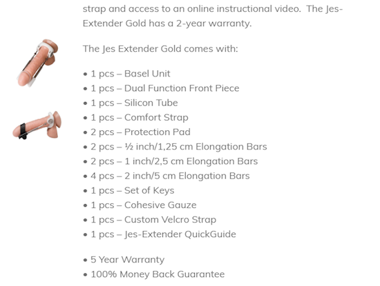 Jes-extender gold warranty