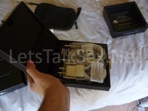 sizegenetics leather case from side