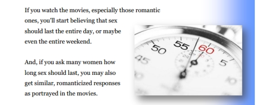 quote about how long sex should last