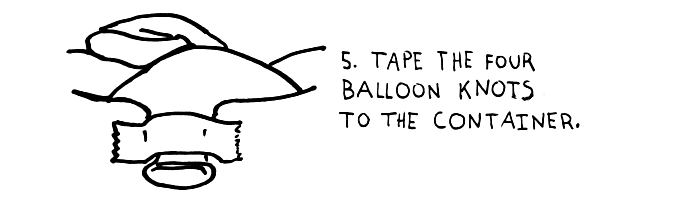 step-5-tape-the-four-balloon-knots-to-the-container