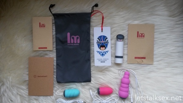 intimate melody lana 3-in-1 bullet vibrators full set