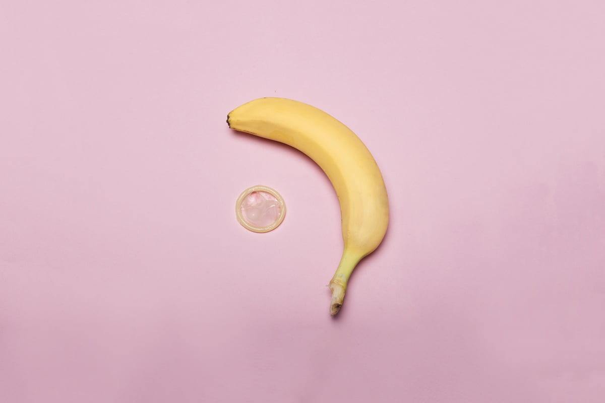 Banana condom dick