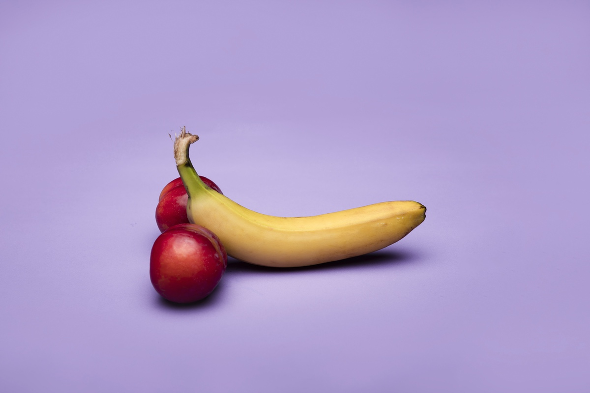 Banana peach penis