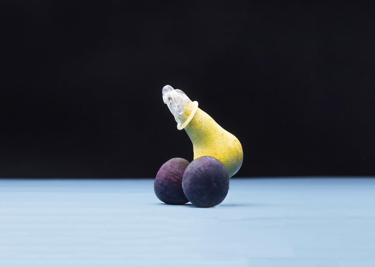 Penis condom balls
