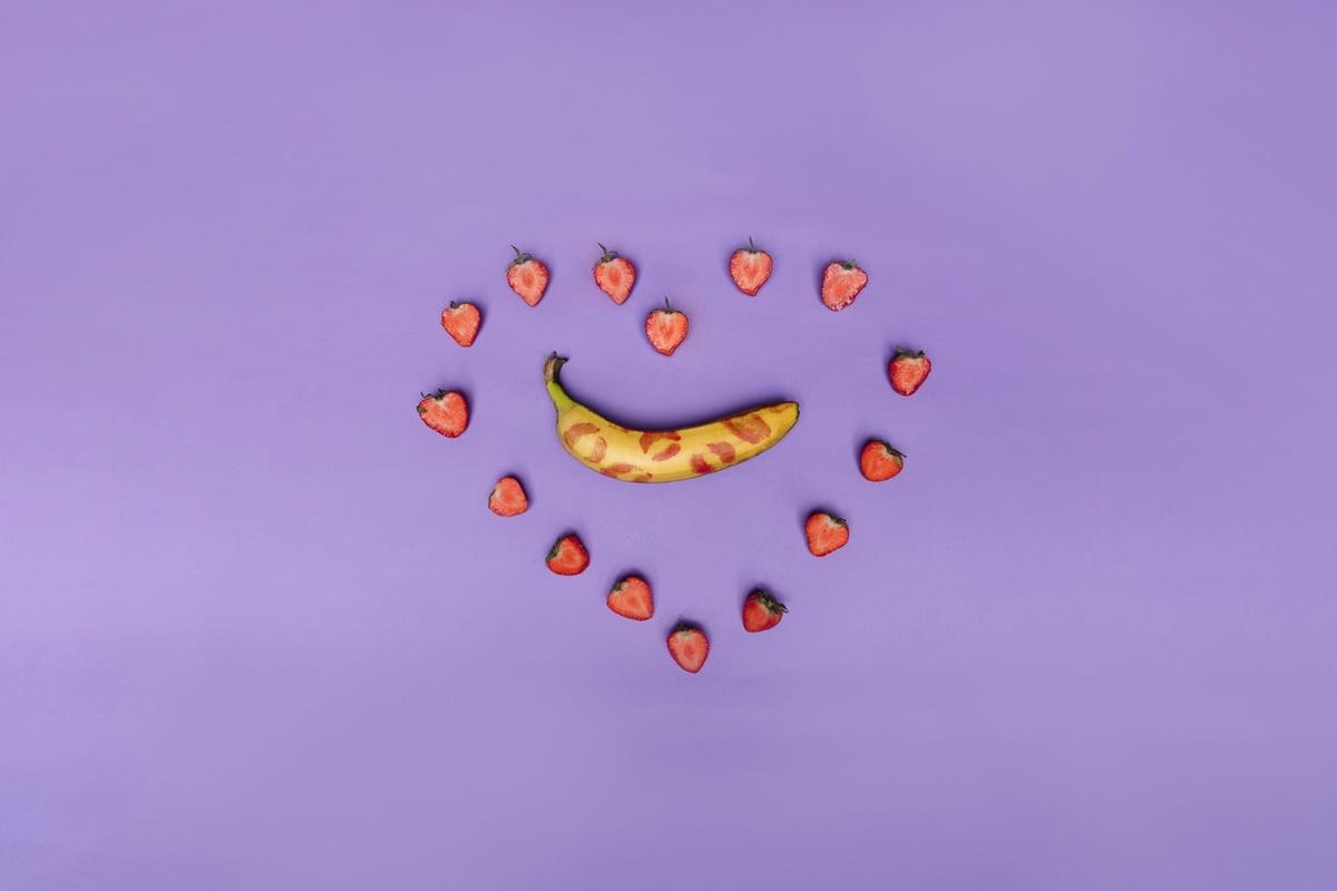 banana in heart