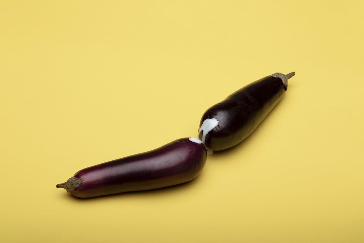 eggplant phallic erotic photos