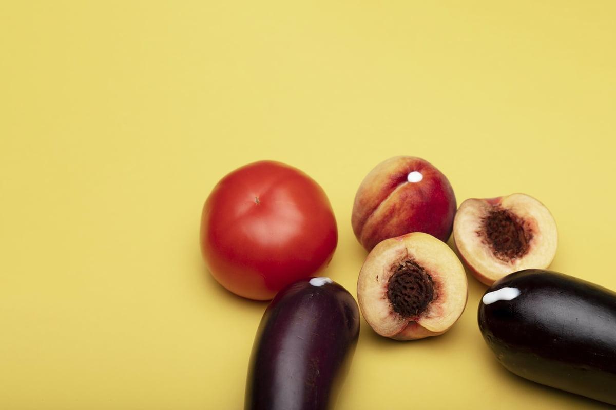 eggplants tomatos