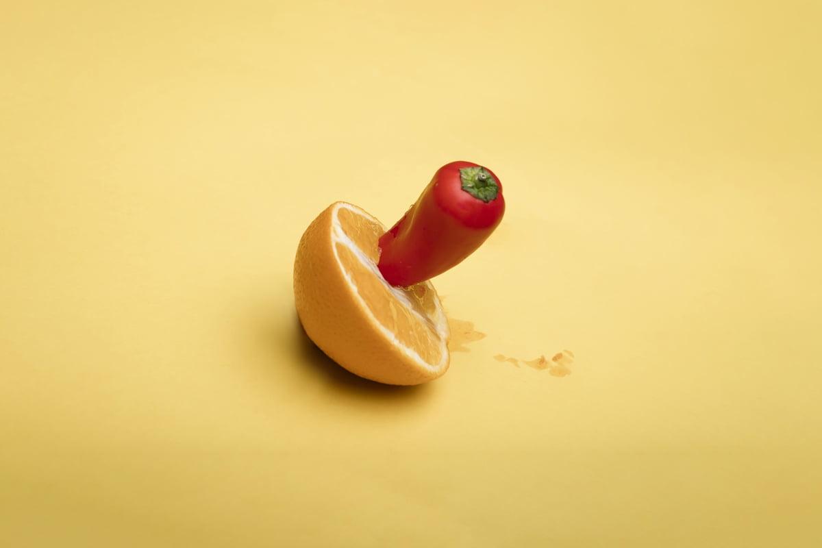 pepper in orange resembling tongue